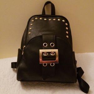 Handbags - STUDDED BUCKLE BACKPACK